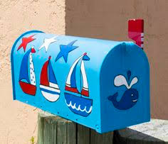 Nautical Themed Mailboxes - for sale buy at judopiabeachdecor etsy com hand painted