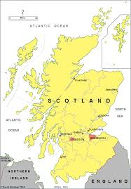 Map Of Scotland And England by Jcr Uk Scotland Jewish Community And Congregations Synagogues