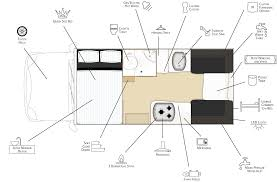 suncamper sherwood motorhome compact motorhome on a toyota hilux floor plan