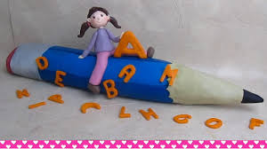 how to make a cake for a girl back to school pencil cake with easy to make girl cake topper