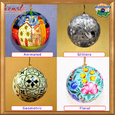 unfinished paper mache blank christmas tree ball decoration