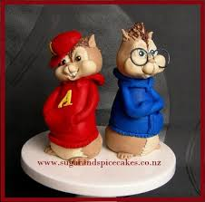 alvin and the chipmunks cake toppers the chipmunks alvin and simon fondant cake toppers cake by
