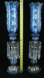 Antique Cobalt Blue Vases Cobalt Blue Vase Bohemia Crystal By Yellowfoxshop On Etsy For