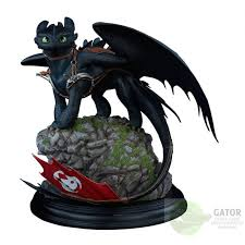 sideshow train dragon 2 statue toothless 30 cm gator