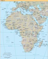 Africa Map Of Countries by Africa