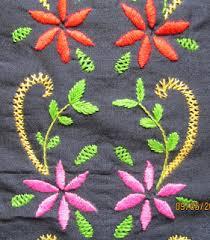Fish Bone Stitch Embroidery Tutorials Embroidered Panel Indusladies