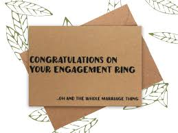 congratulations on engagement card engagement card congratulations on the engagement ring
