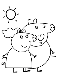 peppa pig coloring pages granny grandpa coloringstar