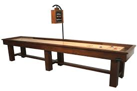 9 foot ponderosa oak shuffleboard table mcclure tables rustic