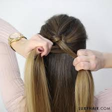 braided hairstyle instructions step by step how to do a dutch braid hair tutorial for beginners luxy hair
