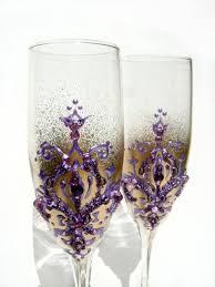 fleur de lis chagne flutes 30 best glasses images on wedding glasses chagne