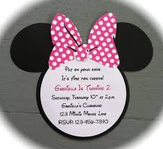 minnie mouse invitations birthday handmade inspired minnie mouse invitations pink with