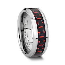 carbon fiber wedding band carbon fiber wedding ring 8mm and black tungsten carbon fiber