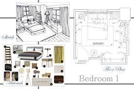 Bedroom Design Boards Interior U0026 Architectural Designs Bedroom Design Sample