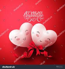sweet smiling hearts happy happy stock vector 361970951