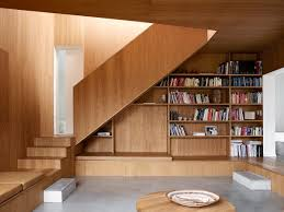 interiors suspended staircase with vertical wires handrails also
