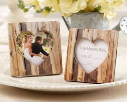wedding favors unlimited rustic wood heart place card holder photo frame