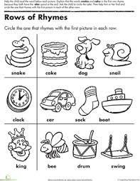 rhyme worksheets worksheets