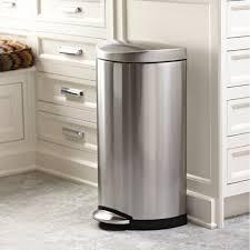poubelle de cuisine poubelle cuisine inox semi ronde 30 l rangement cuisine