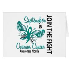 ovarian cancer awareness month september cards invitations
