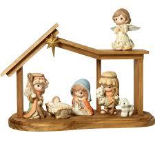 precious moments come let us adore him nativity figurines 7