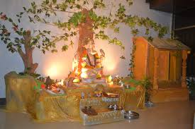 Home Decoration Of Ganesh Festival by Simple Decoration For Ganpati Festival Aarti Thali Decoration