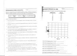 Speed Velocity And Acceleration Worksheet With Answers Homework Physics