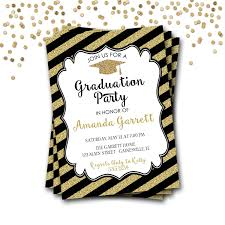 graduation invitation sample black and gold graduation invitations which free to download