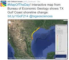 Map Of Gulf Coast Critical Issues Map Of The Day Shoreline Change In Texas