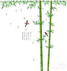 large china bamboo wall stickers decals green tree plants vinyl