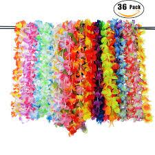 hawaiian leis 36 pieces artificial tropical hawaiian flowers beautiful silk