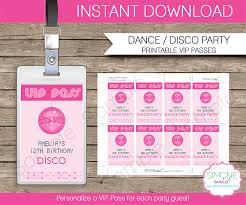 Disco Favors by Vip Passes Template Disco Favors