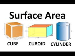 surface area of cube cuboid and cylinder surface area and