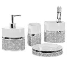 Silver Bathroom Accessories Sets Grey Bathroom Accessories You U0027ll Love Wayfair