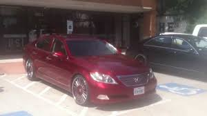 widebody lexus ls 713 motoring candy red ls 460 on forgiato youtube