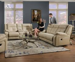 Rocking Reclining Loveseat With Console Amazon Com Simmons Upholstery Miracle Pearl Bonded Leather Double