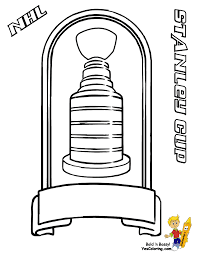 Coloring Page Of Nhl Hockey Stanley Cup Trophy You Can Print Out Cup Coloring Page