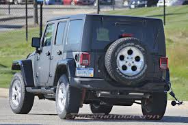 jeep truck 2018 spy photos 2018 jeep wrangler prototype spied with body suspension modifications