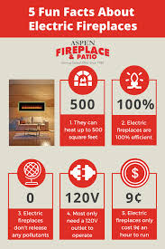 5 fun facts about electric fireplaces infographic aspen