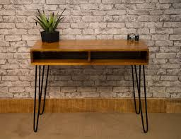 004 mango top contemporary desk with hair pin legs