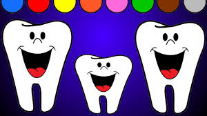 teeth family coloring page colors for children youtube