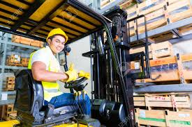 Forklift Truck Driver Jobs Asian Fork Lift Truck Driver Lifting Pallet In Storage Warehouse