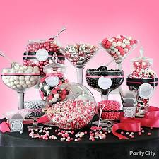 graduation candy table ideas photograph pink and black can