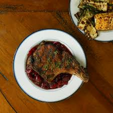 gastrique cuisine bake and baste grilled pork chops with cherry vodka gastrique