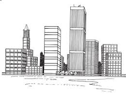 how to draw a cityscape in 5 steps outline images city skylines