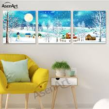winter sports ski silk home decorative painting canvas posters