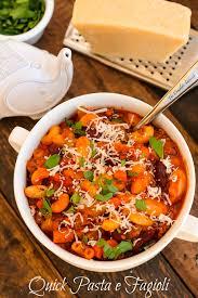 quick pasta e fagioli the complete savorist