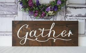dining room sign gather sign dining room wall art pallet wall zoom