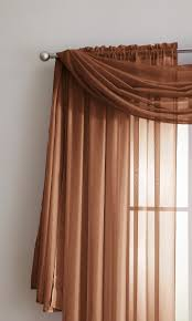 warm home designs orange rust window scarf valance sheer rust