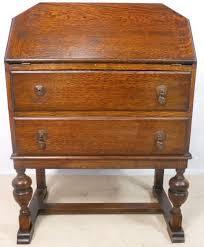 art deco oak writing bureau desk 146888 sellingantiques co uk